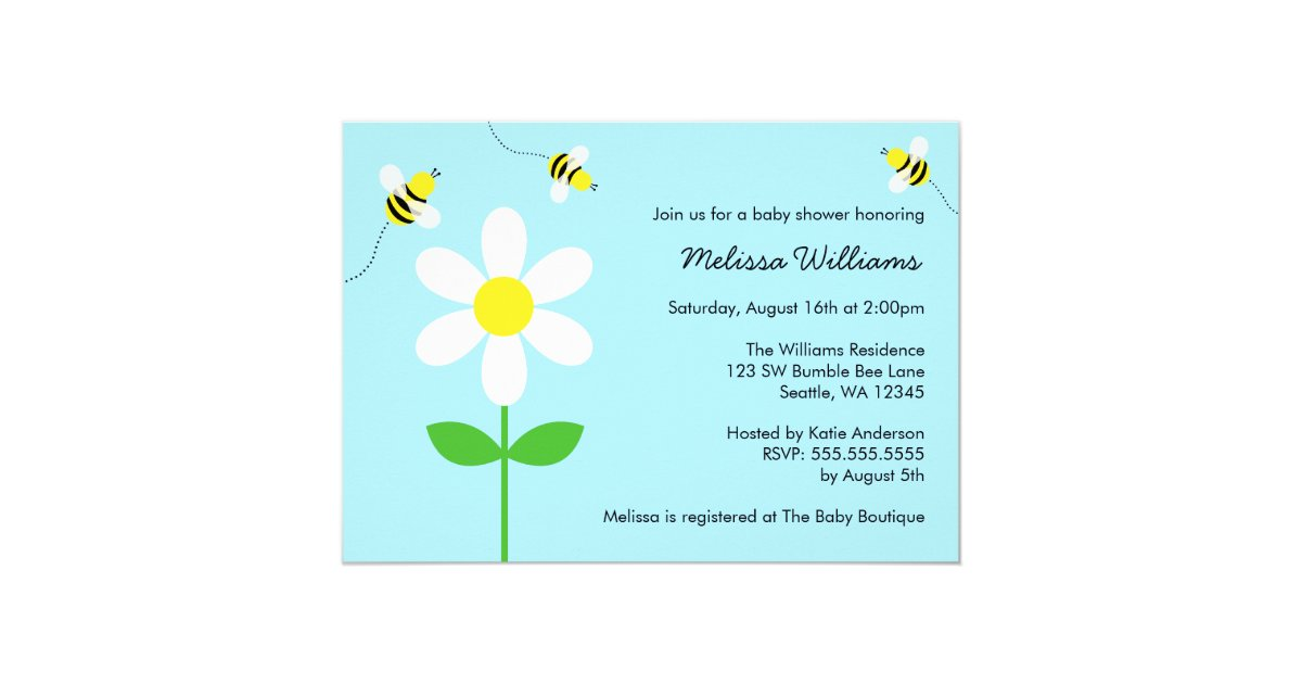 Ble Bee Daisy Baby Shower