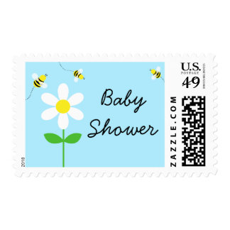 Bumble Bee Daisy Baby Shower Postage