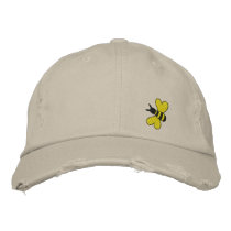 Bumble Bee Embroidered Baseball Cap