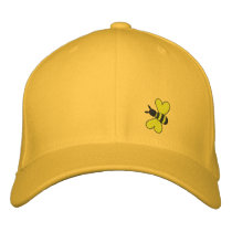 Bumble Bee Embroidered Baseball Hat