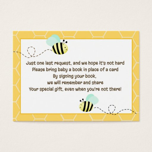 Bumble Bee Enclosure Book Request Cards