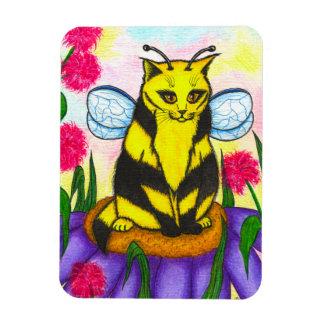 Bumble Bee Fairy Cat Fantasy Art Magnet