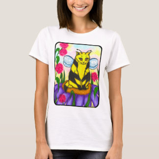 Bumble Bee Fairy Cat Fantasy Art Shirt
