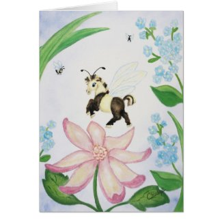 Bumble Bee Fantasy Horse Card