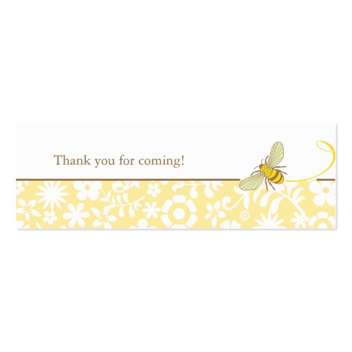 Bumble Bee Favor Tag Double-Sided Mini Business Cards (Pack Of 20)