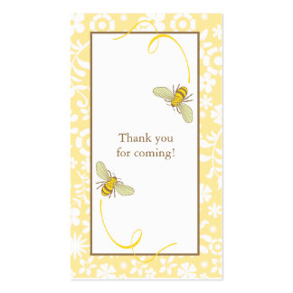 Bumble Bee Favor Tag Double-Sided Standard Business Cards (Pack Of 100)