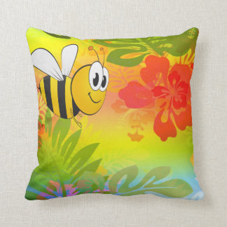 Bumble bee flower cushion and