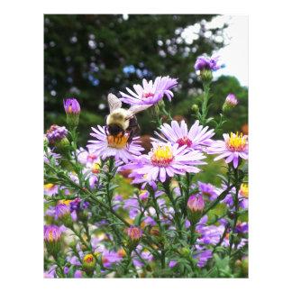Bumble Bee Flower Letterhead