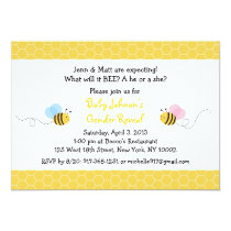 Bumble Bee Gender Reveal Invitation