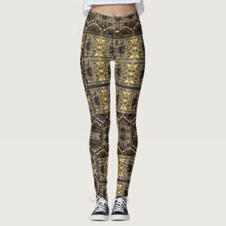 Bumble Bee Geo Leggings