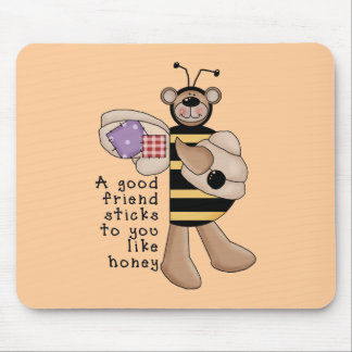 Bumble Bee Good Friend tshirts and Gifts Mouse Pad