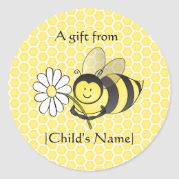 Bumble Bee Goodie Bag Sticker