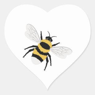 aeaf4a4e9f1b Bumble Bee Heart Sticker
