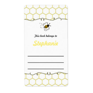 Bumble Bee Hive Bookplate Label - Book Plate Shipping Label