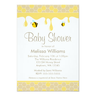 Honey Bee Invitations Zazzle