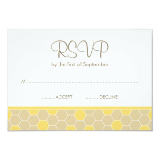 Bumble Bee Honey Baby Shower RSVP Personalized Invite