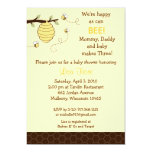 "Bumble Bee Honeycomb Baby Shower Invitations 5"" X 7"" Invitation Card"
