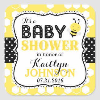 Bumble Bee Honeycomb Baby Shower Label