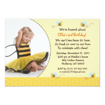 Bumble Bee Honeycomb Birthday Invitations