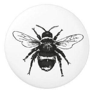 bumble bees knobs pulls zazzle Black of Bees bumble bee illustrated knob