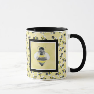 Bumble Bee Illustration Mug