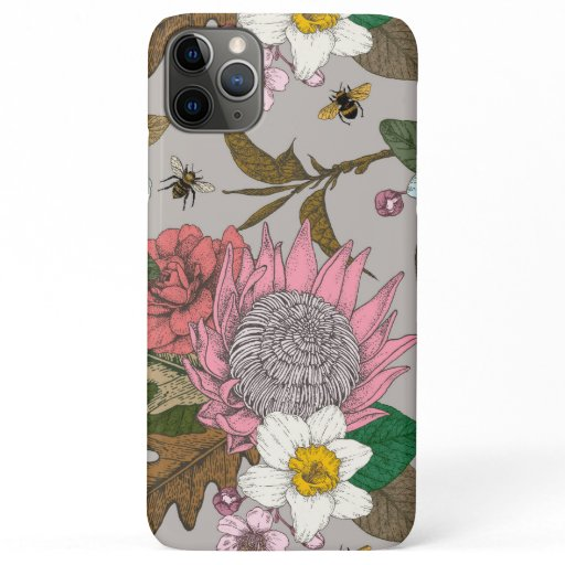 Bumble bee in the garden cell phone case