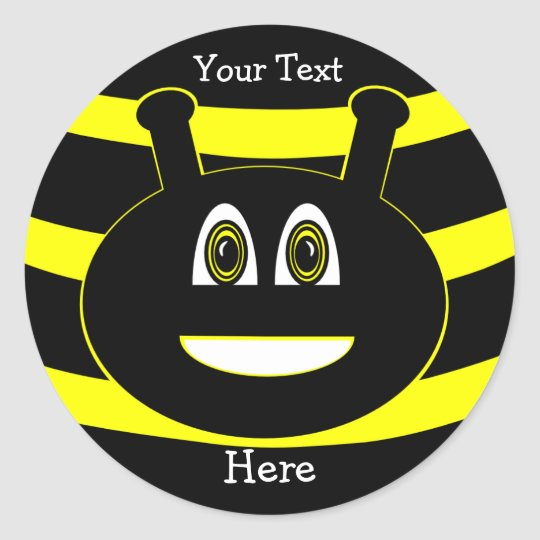 Bumble Bee Insects Happy Smiles Stickers