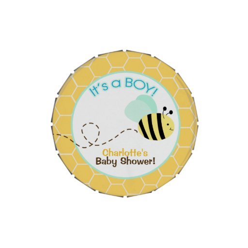 Bumble Bee It's a Boy Baby Shower Favor Tin Candy Tins