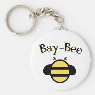 Bumble Bee Basic Round Button Keychain