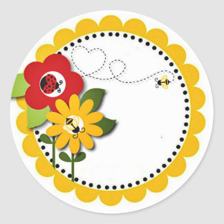Bumble Bee Lady Bug Shower Party Birthday Stickers