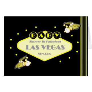 Bumble Bee Las Vegas BABY SHOWER Card
