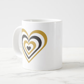 Bumble Bee Layered Heart Giant Coffee Mug