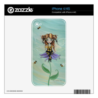 Bumble Bee Little Gothic Fairy Art Skins For The iPhone 4