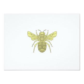 Bumble Bee Mandala Card