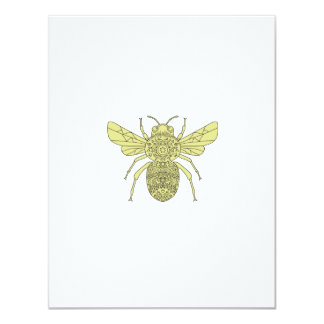 Bumble Bee Mandala Card