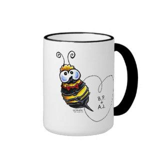 Bumble Bee Mine Personalized Ringer Coffee Mug