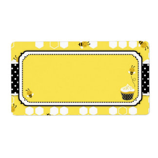 Bumble Bee Name Tag Personalized Shipping Label