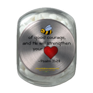 """""""Bumble BEE"""" of good courage Jelly Belly Candy Jar"""