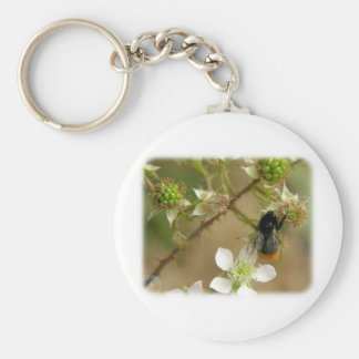 Bumble Bee on a Bramble 9Y042D-007 Keychain
