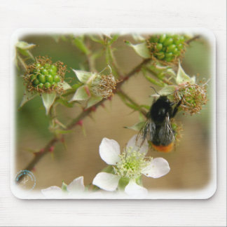 Bumble Bee on a Bramble 9Y042D-007 Mouse Pad