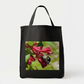 Bumble Bee on a Flower Tote Bag