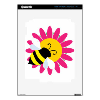 Bumble Bee on Flower Decal For iPad 3
