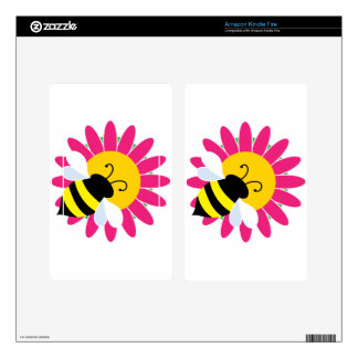 Bumble Bee on Flower Kindle Fire Skins