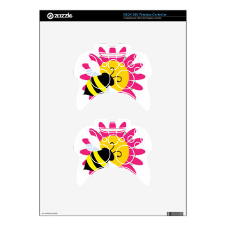 Bumble Bee on Flower Xbox 360 Controller Skins