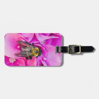 Bumble Bee On Hydrangea Luggage Tag