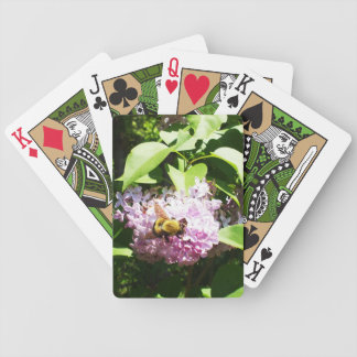 Bumble Bee on Lilac Flower Bicycle Playing Cards