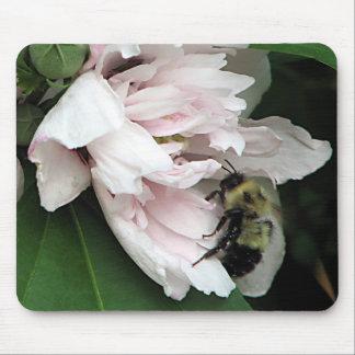 Bumble Bee on Peony Blossom Mousepad