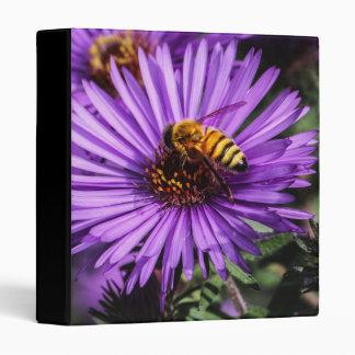 Bumble Bee on Purple Aster Flower Binders