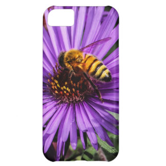Bumble Bee on Purple Aster Flower Cover For iPhone 5C