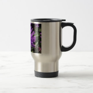Bumble Bee on Purple Aster Flower Coffee Mugs